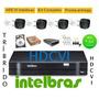 Kit Cftv Intelbras Hdcvi 720p 4câmeras+dvr4+hd+cabo+fonte