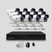 Kit Segurança Cftv Dvr Stand Alone 16canais 12 Câmeras Infra