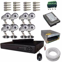 Kit Cftv Dvr + 8 Cameras Infra 800 Linhas + Hd 1tb + Cabo