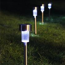 Luminárias Led À Luz Solar Para Jardim Em Aço Inox