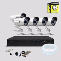 Kit Segurança Dvr Stand Alone 8 Canais Intelbras C/5 Cameras