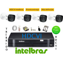 Kit Intelbras 4 Cam Hdcvi + Dvr 8 Ch Hdvci Tribrido Hd 500g