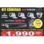 Kit De Camera Hd Alta Definição De Imagem 4 Câmeras Dvr Cabo