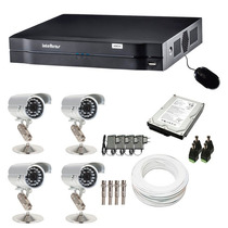 Stand Alone Cftv Kit 4 Câm.intelbras Ccd Sony Dvr 4 Ch Hd