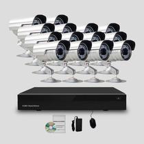 Kit Segurança Cftv Dvr Stand Alone 16canais 14 Câmeras Infra