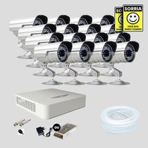 Kit Monitoramento Dvr Stand Alone 16 Canais Jfl 16 Cameras