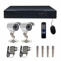Kit Dvr 4 Canais Com 2 Cam 1400l 1/3 Ccd Sony Showcel Cod346