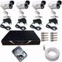 Kit Completo 4 Câmeras Segurança Infra - Fácil Instalação