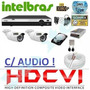 Kit 2 Cameras Hdcvi 720p Infra Dvr 4 Canais Intelbras Hdcvi