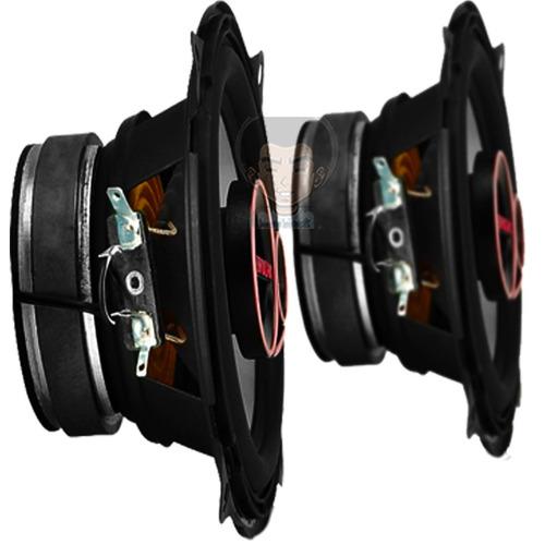 Kit Par Auto Falantes 5 Pol Bravox Triaxial B3x50 80w Rms