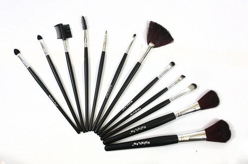 Kit Pincéis Para Maquiagem Com 12 Peças Macrilan+ Brinde