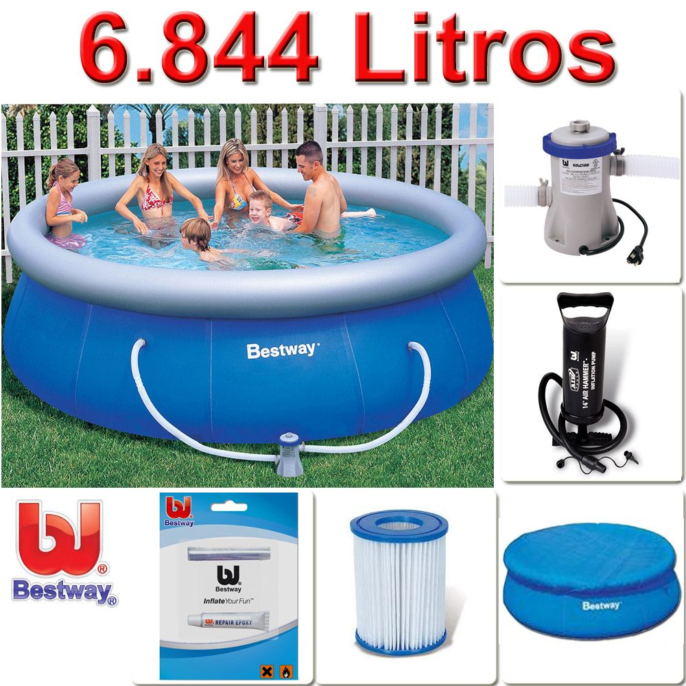 Kit piscina infl vel bestway intex filtro capa for Filtros bombas accesorios piscinas intex