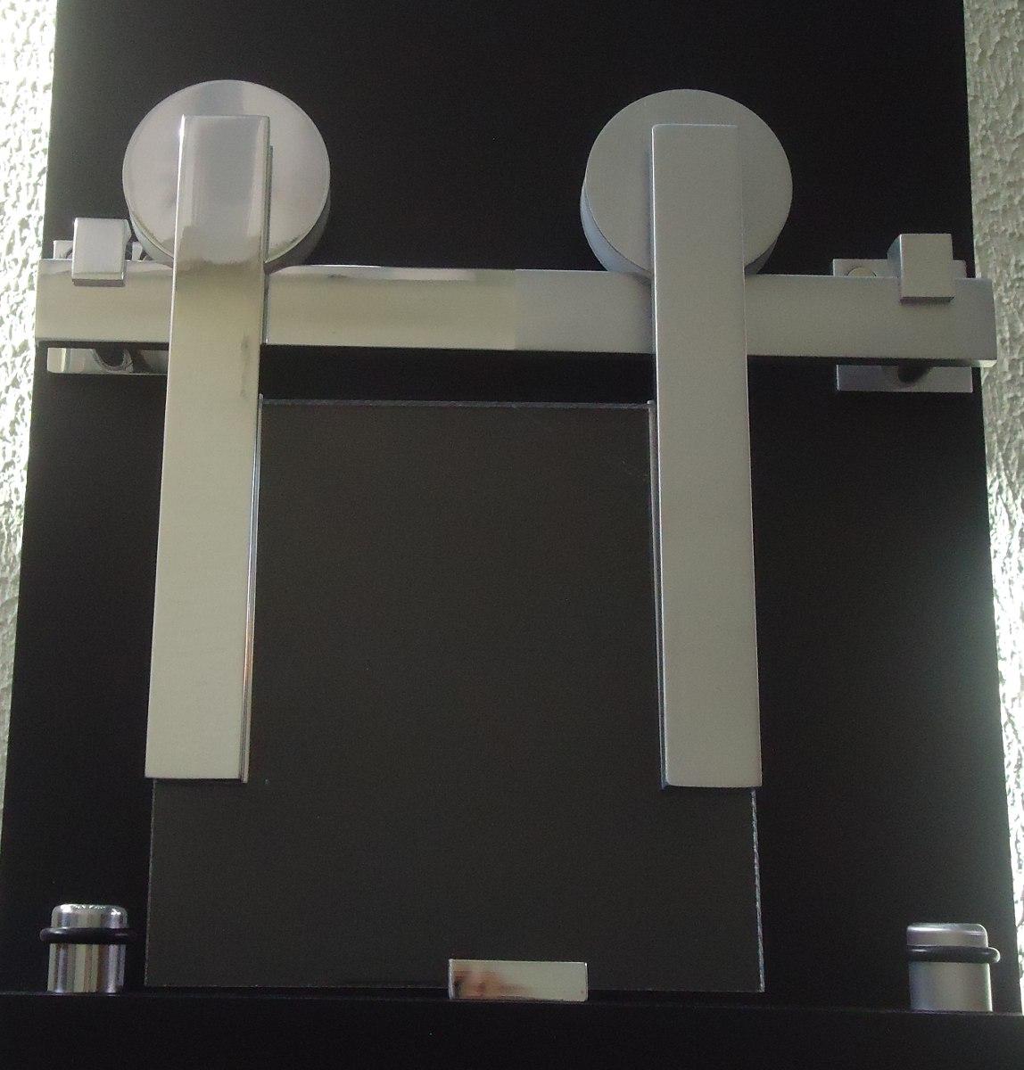 kit porta de correr roldana aparente para porta de vidro #5C4F47 1148x1200 Acessorios Banheiro Leroy