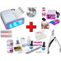 Kit Gel Uv Acrygel - Dvd + Cabine Uv + Lixa + Alicate + Tips