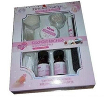 Kit Gel Uv Para Unhas Lidan Acrygel Cola Tips Lixa Removedor