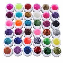 Kit C/ 12 - Gel Uv Colorido C/ Glitter Para Unhas