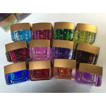 Kit Com 12 Gel Colorido Vitral Para Decoração De Unhas.
