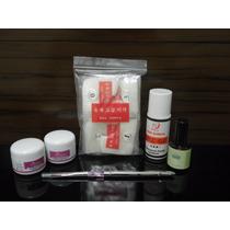 Kit Para Unhas De Porcelana (pó,primer,monomer,pincel,tips )