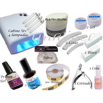 Unha Gel Kit Cabine Uv 36w Uv Fibra De Vidro Gel Uv Primer