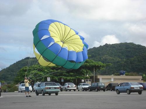 Kite Humana Voe De Parasail Puxado Lancha Jetski, Paraqueda