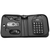 Kit Acessório Notebook Mouse Teclado Numérico Adaptador Fone