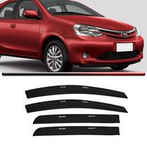 Calha Defletor Chuva Toyota Etios Hatch Sedan Acrílico Fume