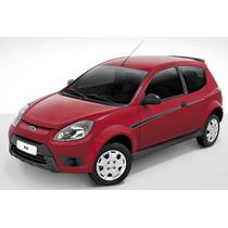 Conjunto De Saia / Spoiler Lateral Novo Ford Ka E St Preto