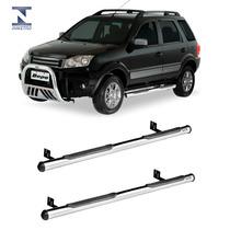 Estribo Tubular Cromado Ford Ecosport 2003 Até 2012