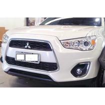 Moldura Friso Cromado Grade Dianteira Mitsubishi Asx 2013/15