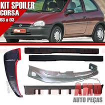 Kit Spoiler Corsa 93 Á 03 2 Portas Dianteiro + Traseiro + La