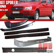 Kit Spoiler Uno 84 Á 04 4 Portas Dianteiro + Lateral Com Tel