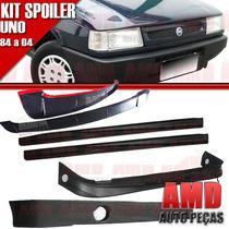 Kit Spoiler Uno 84 Á 04 4 Portas Dianteiro + Lateral Sem Tel