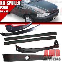 Kit Spoiler Palio 96 Á 99 2 Portas Dianteiro + Lateral Sem T