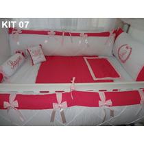 Kit Berço Personalizado 10 Pçs Provençal Varias Cores E Nome