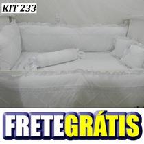 Kit Berço Personalizados 10 Pçs Provençal Luxo Branco