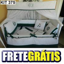Kit Berço Personalizados 10 Pçs Times Palmeiras Futebol
