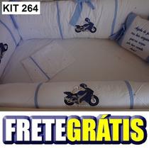Kit Berço Personalizado 10pçs Bebê Motoqueiro - Moto Baby