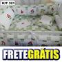 Kit Berço Personalizados 10 Pçs Pequena Sereia Verde