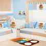 Quarto Completo Col. Arca Baby Azul 37 Pçs + Almof Amam Azul