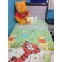 Jogo De Berço + Manta + Travesseiro - Urso Pooh Disney Verde