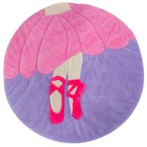 Tapete Rosa Lilás Menina Bailarina 1 Peça Lb525