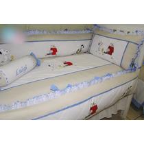 Kits De Berço Menino - Snoopy Personalizado - 100% Algodão