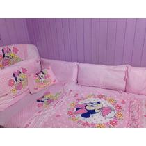 Kit Berço Completo C/ Mosquiteiro Minnie Baby Disney Menina