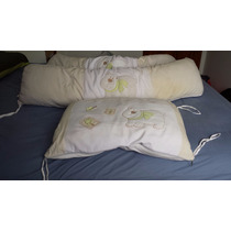 Kit Protetor Almofada Para Berço Bebê - Unisex - 3 Peças