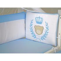 Kit Mini Berço Urso Príncipe Azul 7 Peças Canaa 100% Algodão