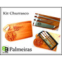 Kit Churrasco Tábua De Corte + Kit Mundial Faca Garfo Chaira