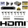 Kit Cftv 8 Cameras Sony Dvr 8 Canais Plat Intelbras Fonte