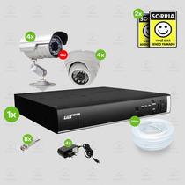 Kit Segurança Dvr Stand Alone 4 Canais Luxvision C/4 Cameras