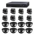 Dvr Cftv Stand Alone H264 8 Canais + 8 Mini Câmeras + 8 Dome