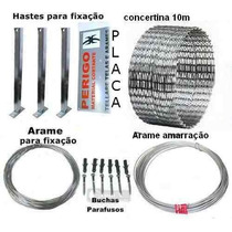 Kit Concertina Protetor Perimetral Cerca Ouriço 10m 300mm